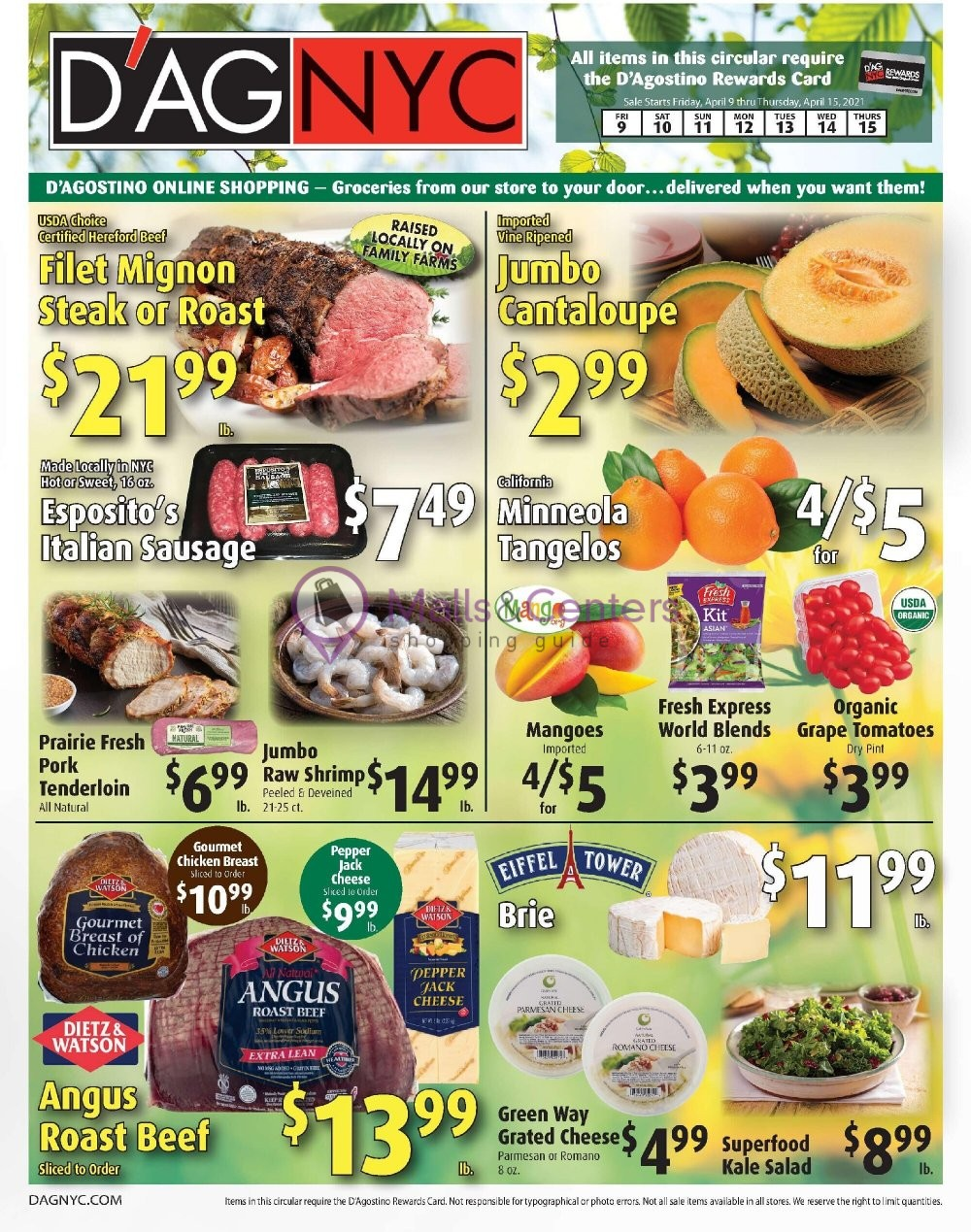 weekly ad D'Agostino - page 1 - mallscenters.com