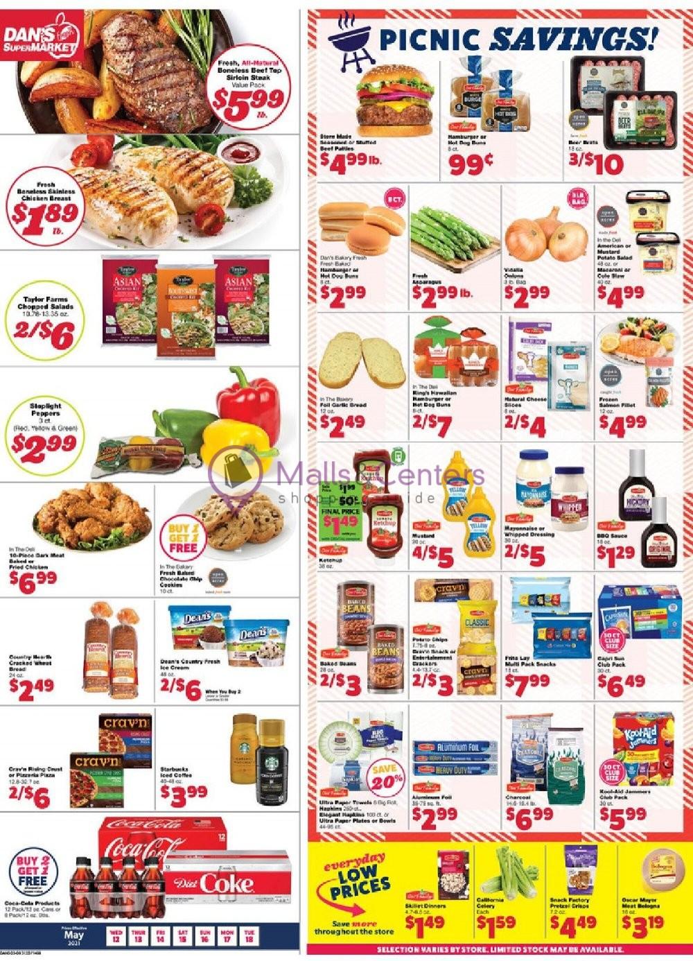 weekly ads Dan's fresh supermarket - page 1 - mallscenters.com