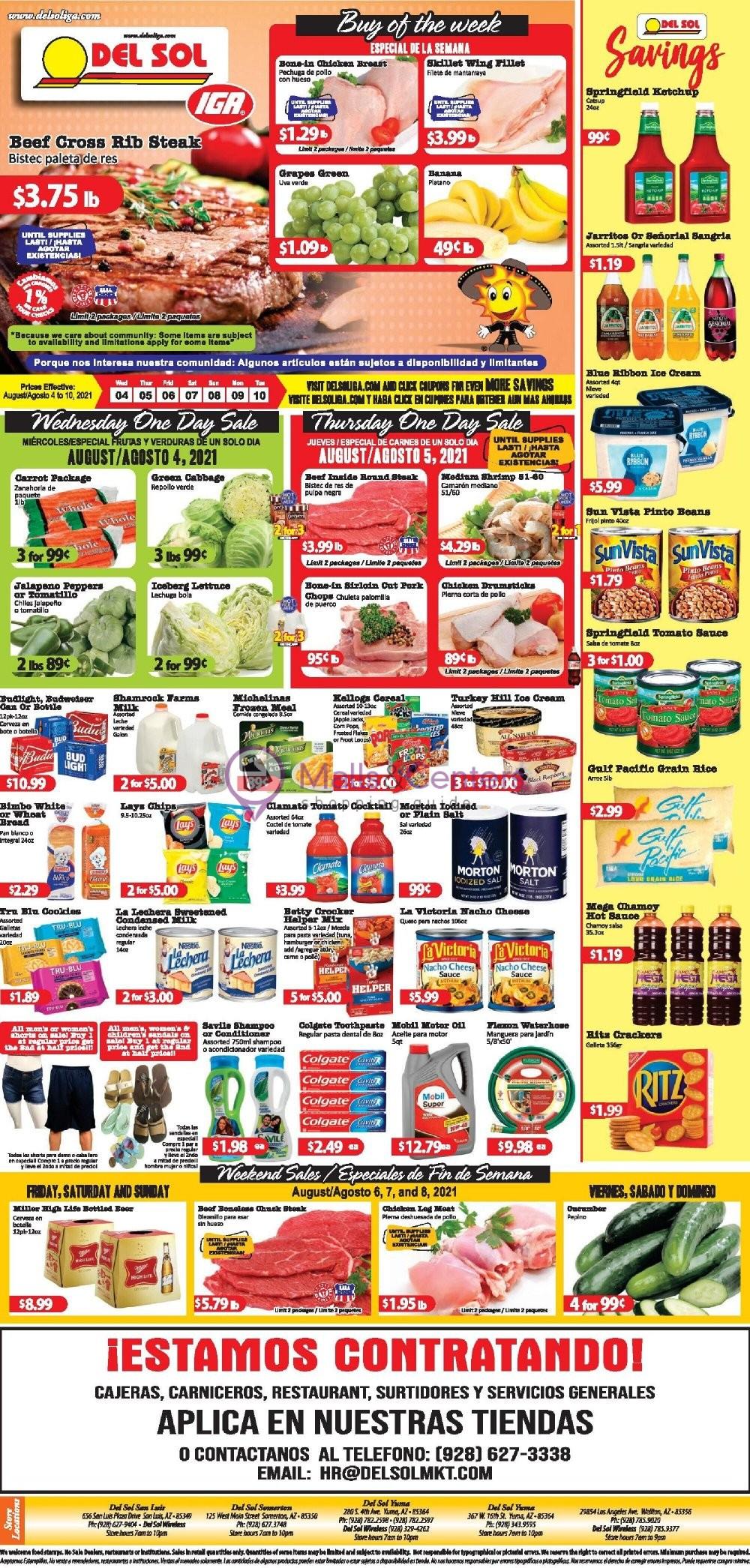 weekly ads Del Sol IGA - page 1 - mallscenters.com
