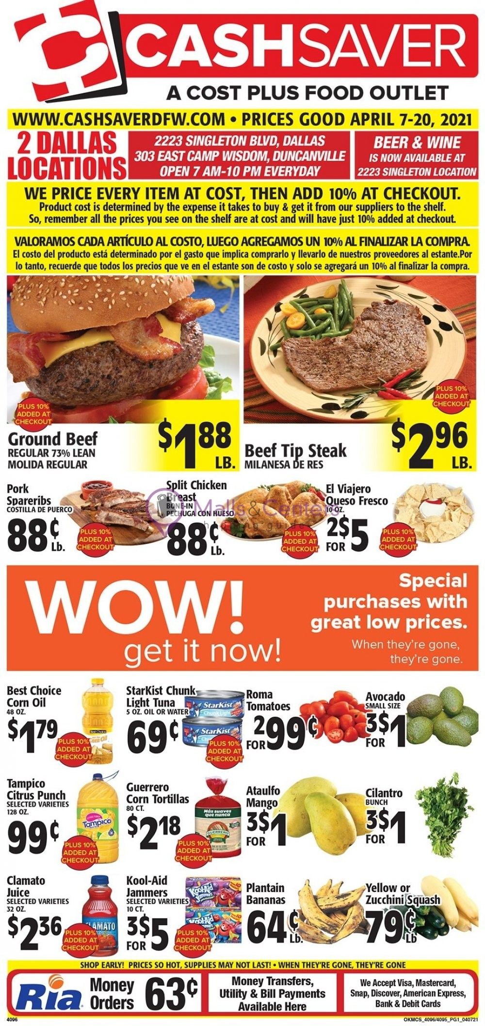 weekly ads DFW Cash Saver - page 1 - mallscenters.com