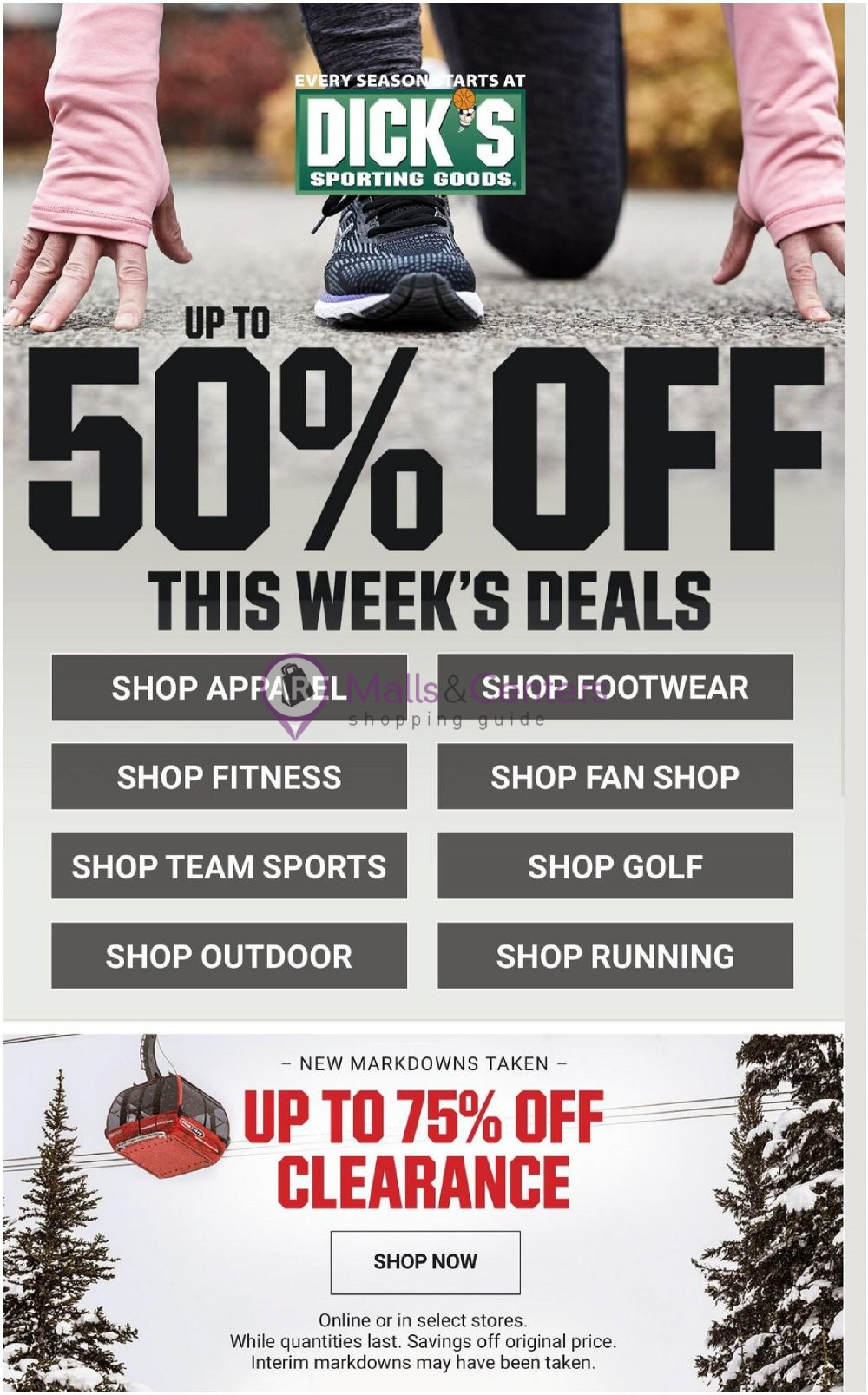 weekly ads Dick's Sporting Goods - page 1 - mallscenters.com