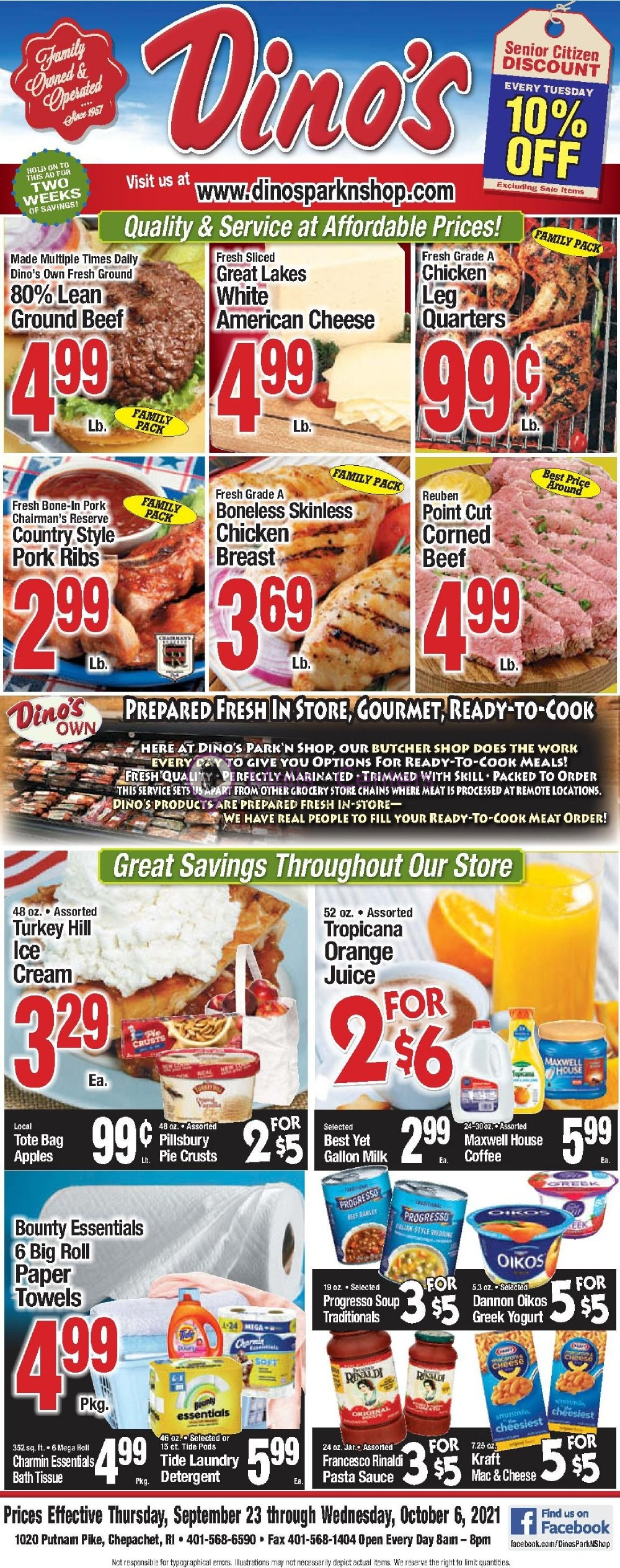 weekly ads Dino's Park & Shop - page 1 - mallscenters.com