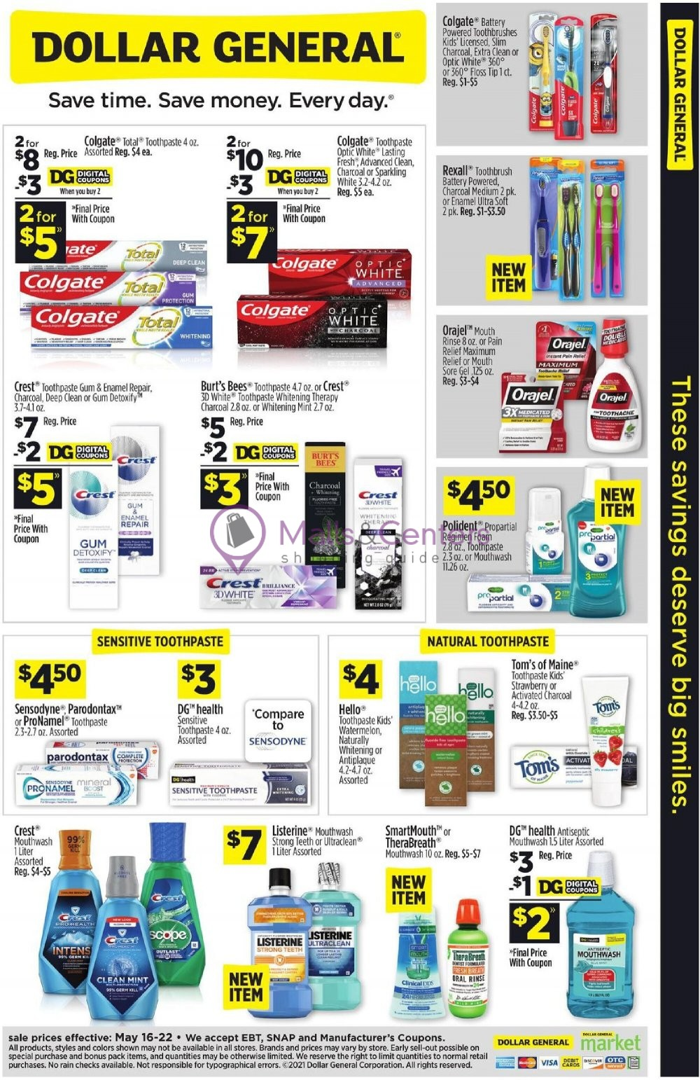 weekly ads Dollar General - page 1 - mallscenters.com