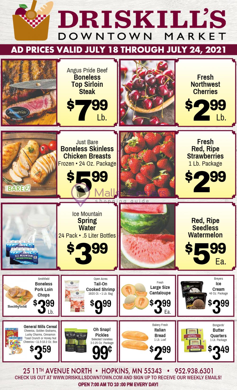 weekly ads Driskill's Downtown Market - page 1 - mallscenters.com