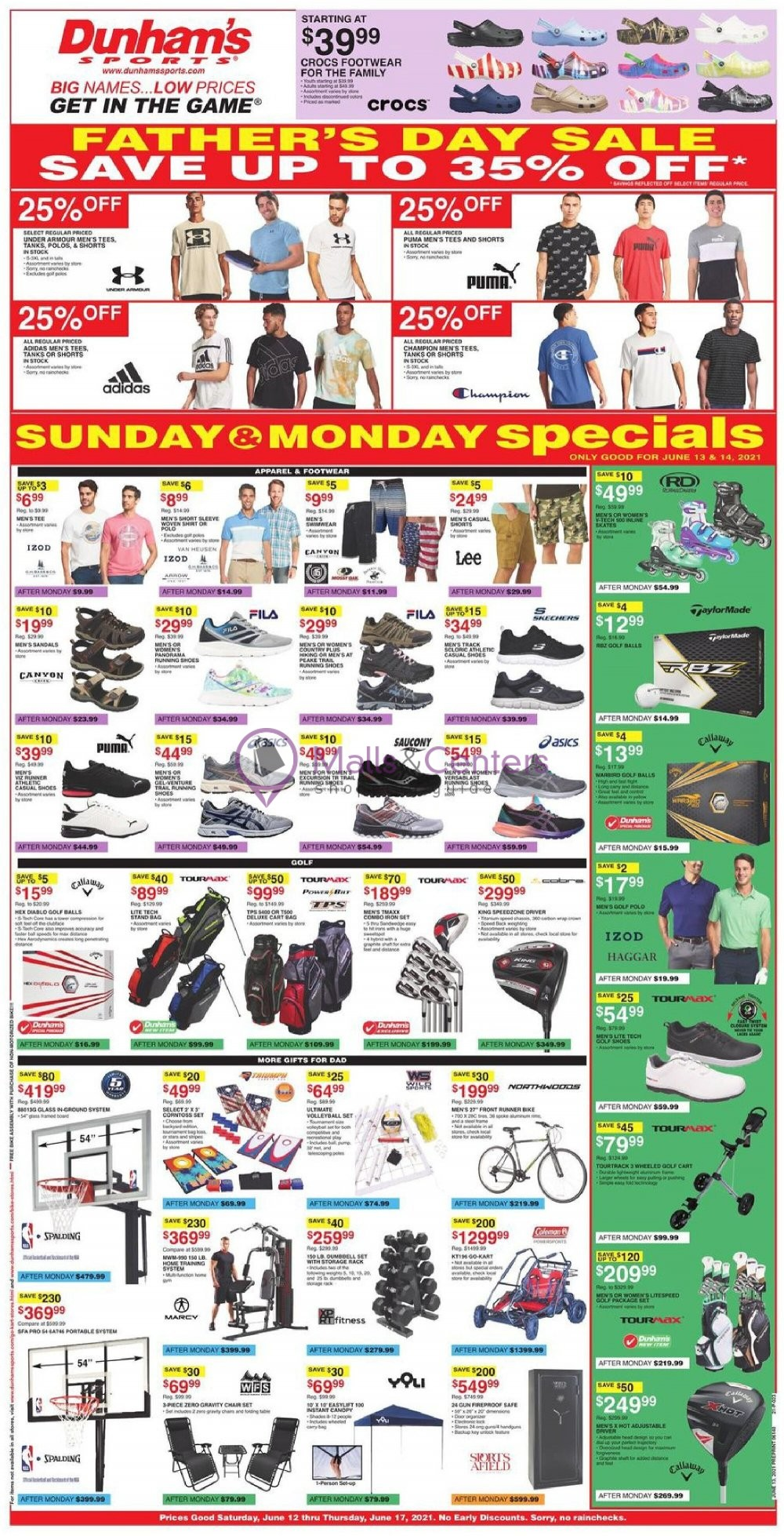 weekly ads Dunham's Sports - page 1 - mallscenters.com