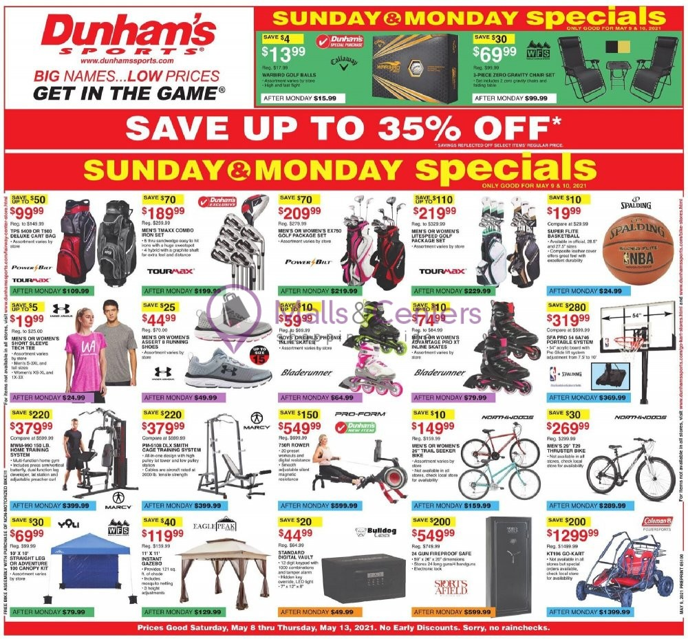 weekly ad Dunham's Sports - page 1 - mallscenters.com