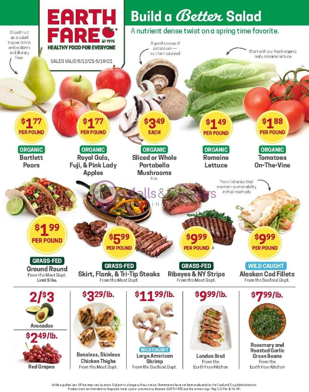 weekly ads Earth Fare - page 1 - mallscenters.com