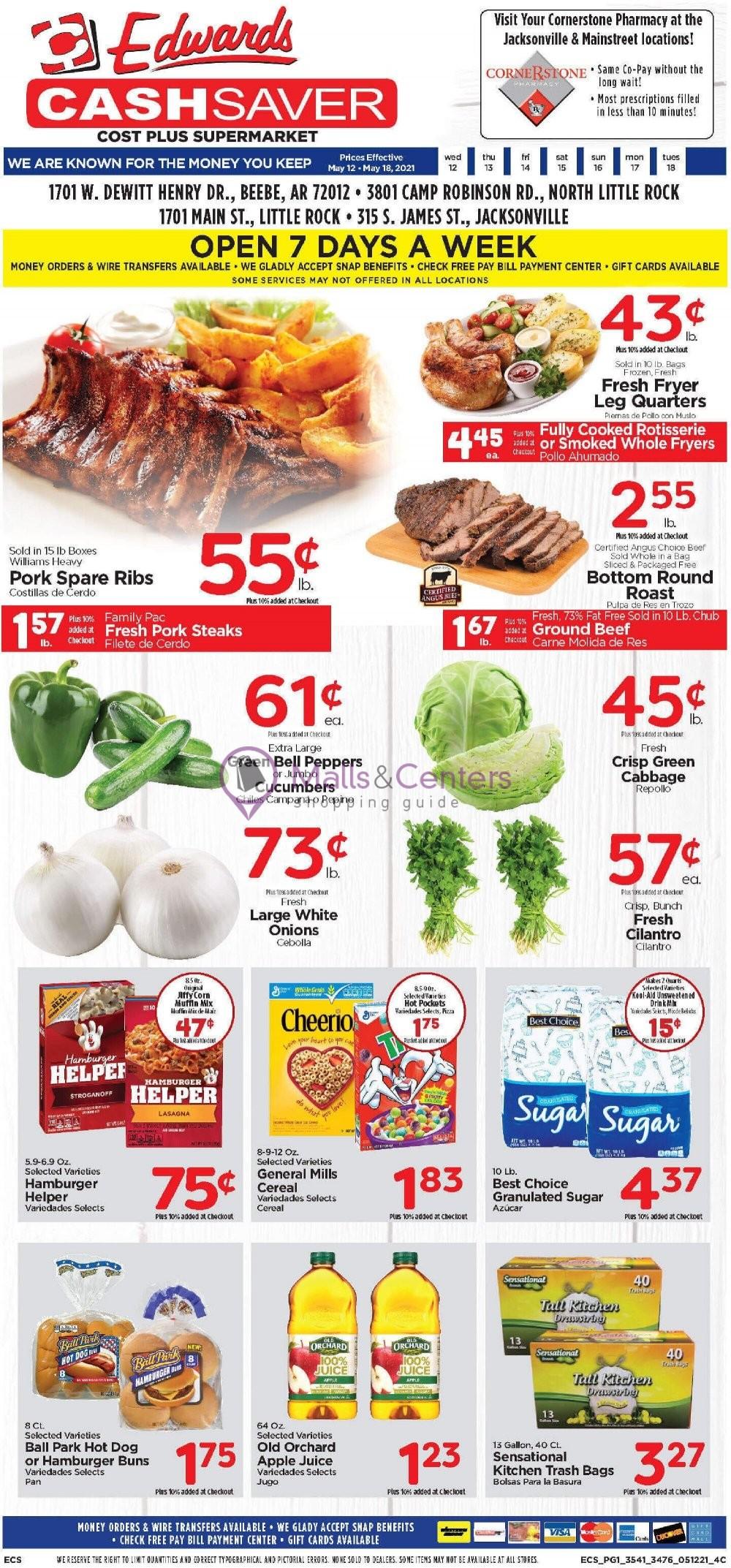 weekly ads Edwards Cash Saver - page 1 - mallscenters.com