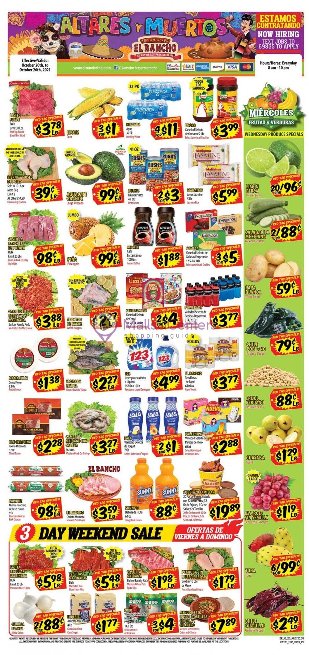weekly ads El Rancho Supermercado - page 1 - mallscenters.com