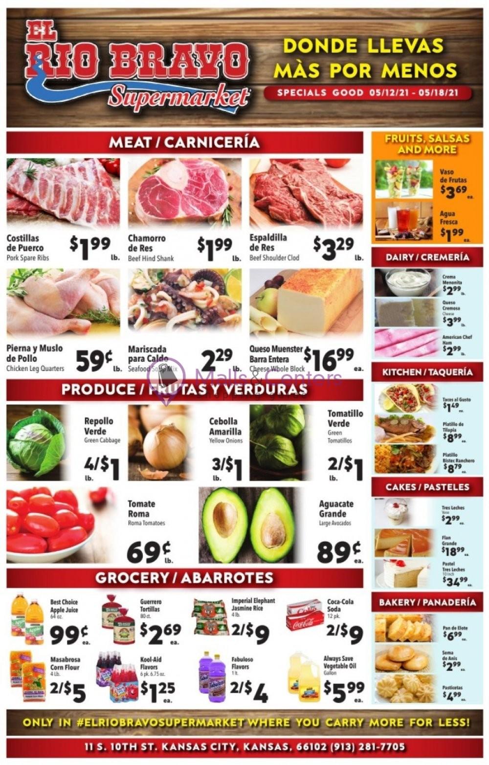 weekly ads El Rio Bravo Supermarket - page 1 - mallscenters.com
