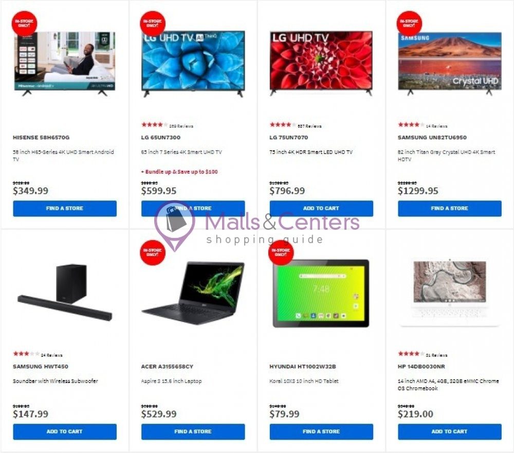 weekly ads Electronic Express - page 1 - mallscenters.com