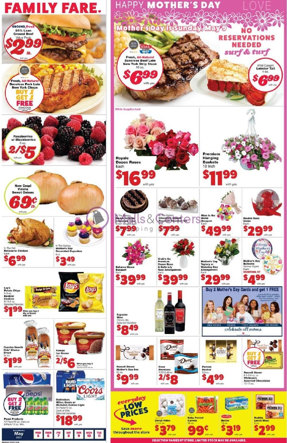 weekly ad Family Fare - page 1 - mallscenters.com