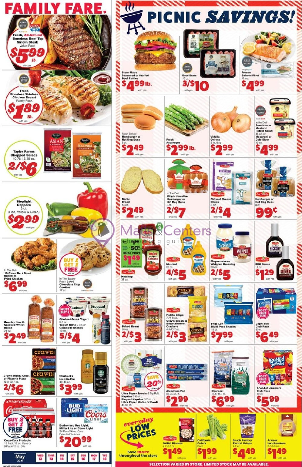 weekly ads Family Fare - page 1 - mallscenters.com