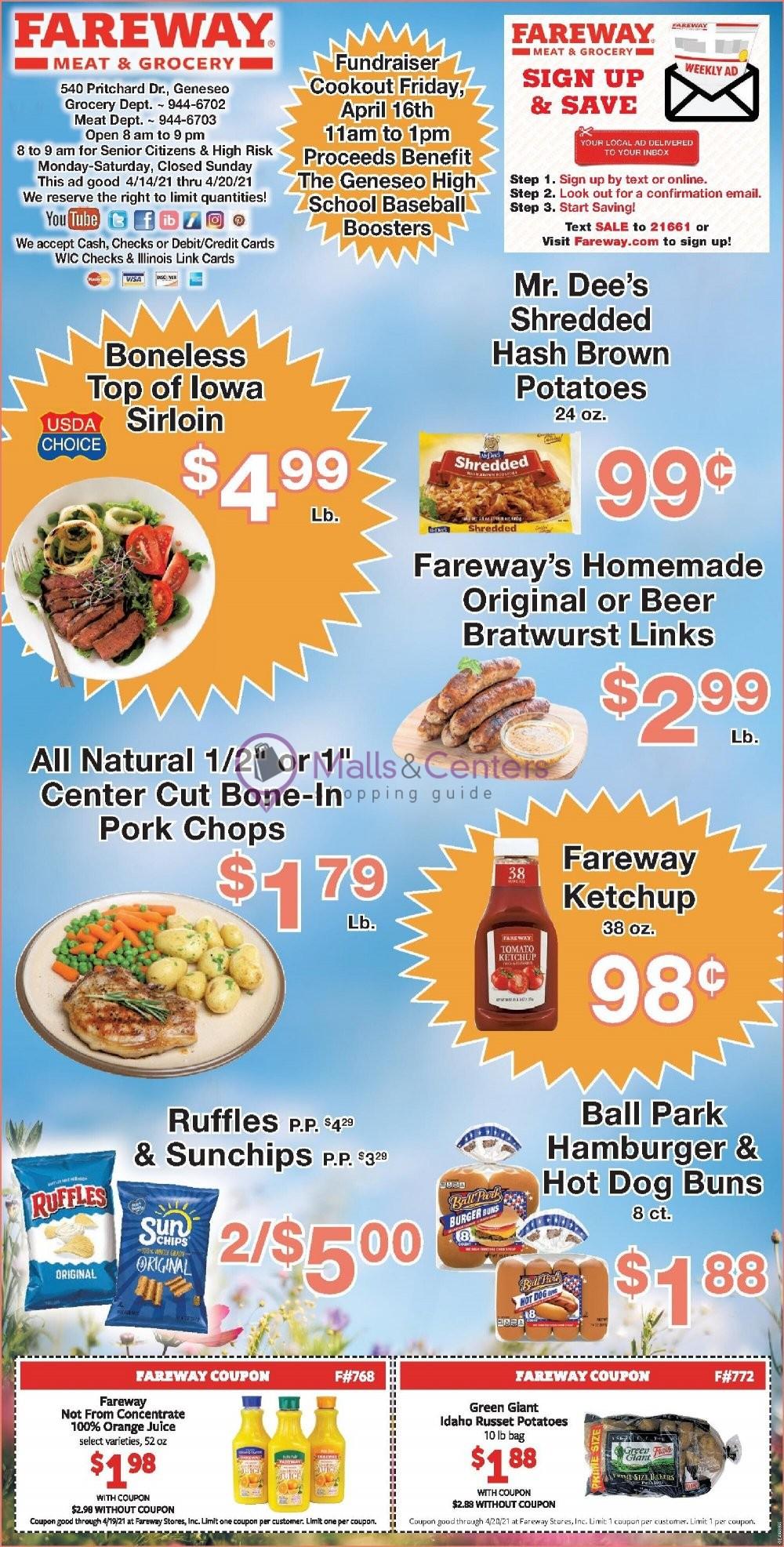 weekly ads Fareway - page 1 - mallscenters.com