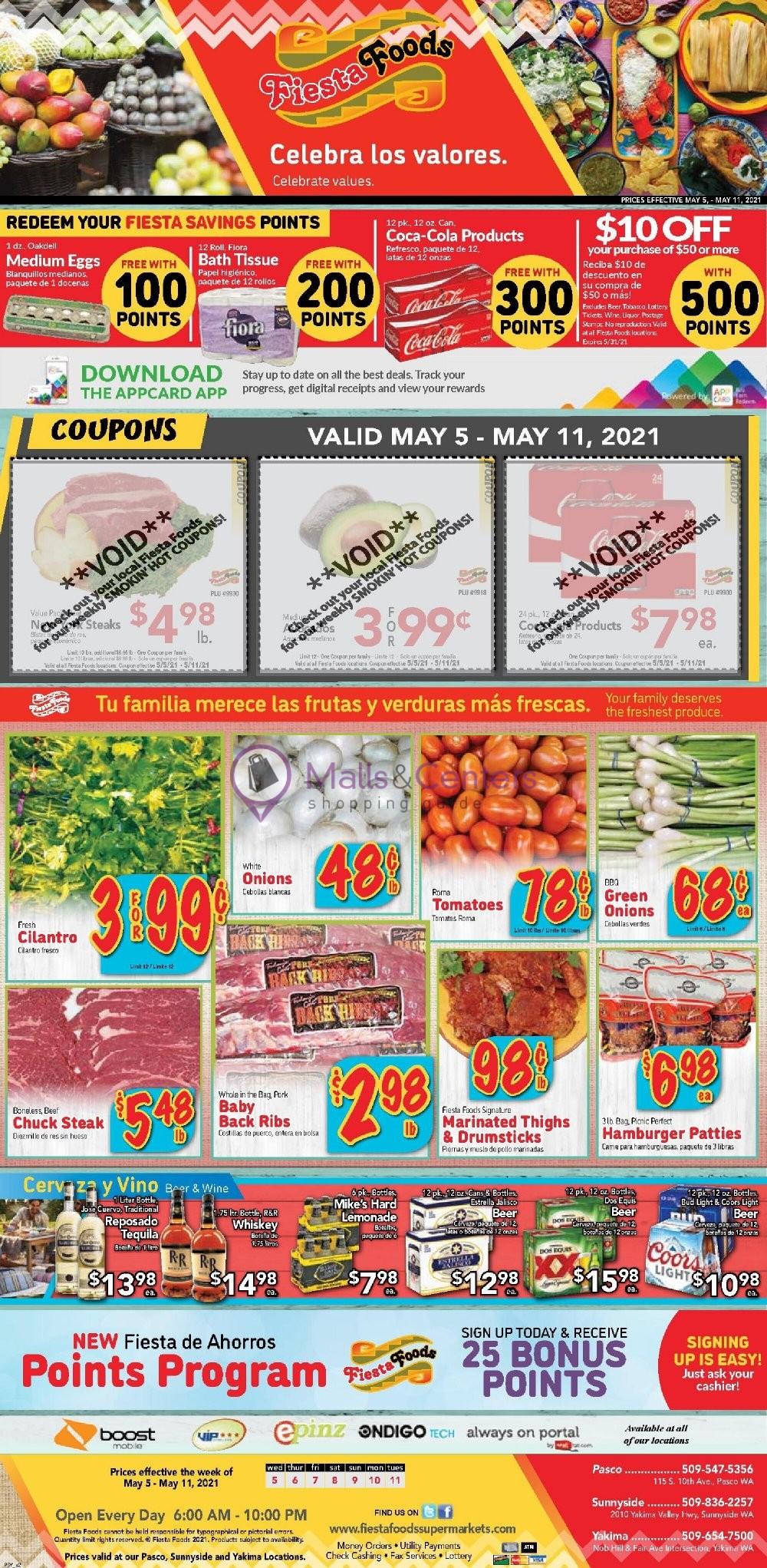 weekly ads Fiesta Foods SuperMarkets - page 1 - mallscenters.com