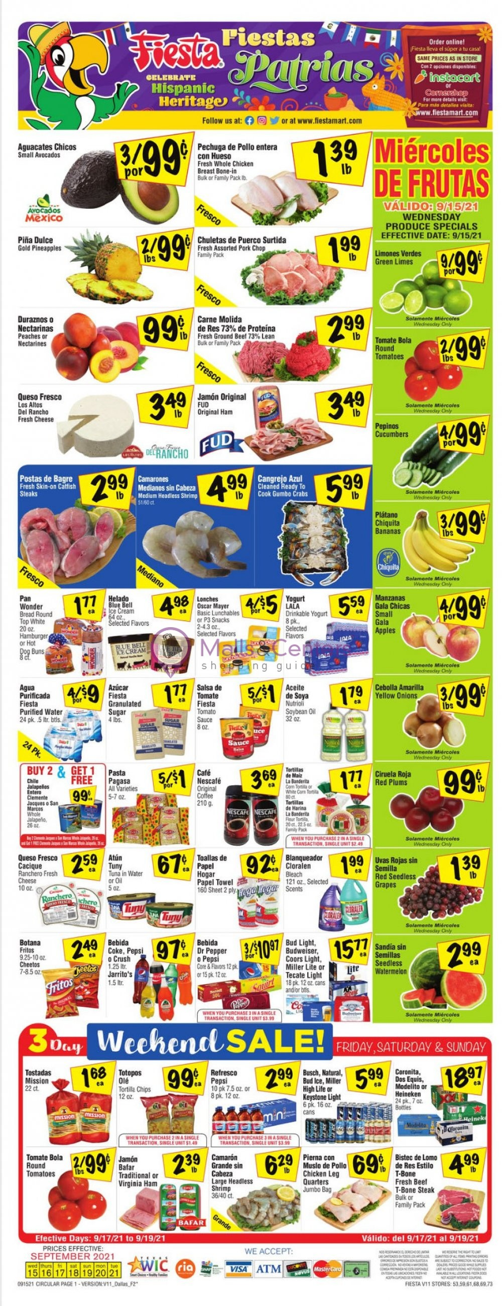weekly ads Fiesta Mart - page 1 - mallscenters.com