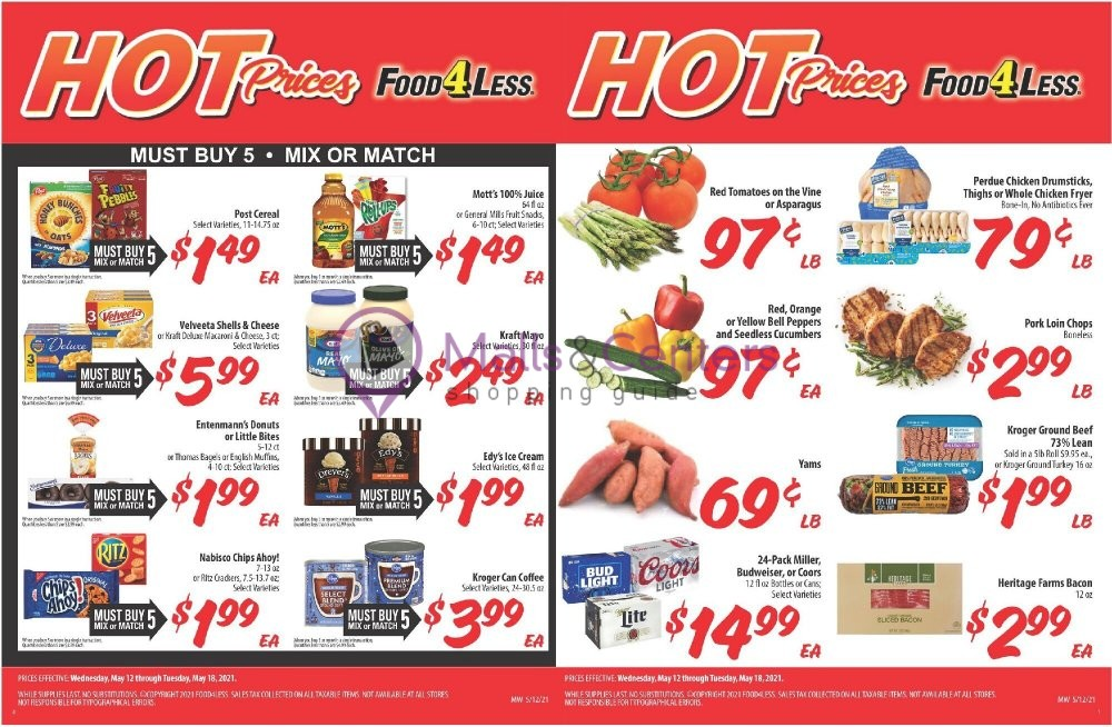 weekly ads Food 4 Less - page 1 - mallscenters.com