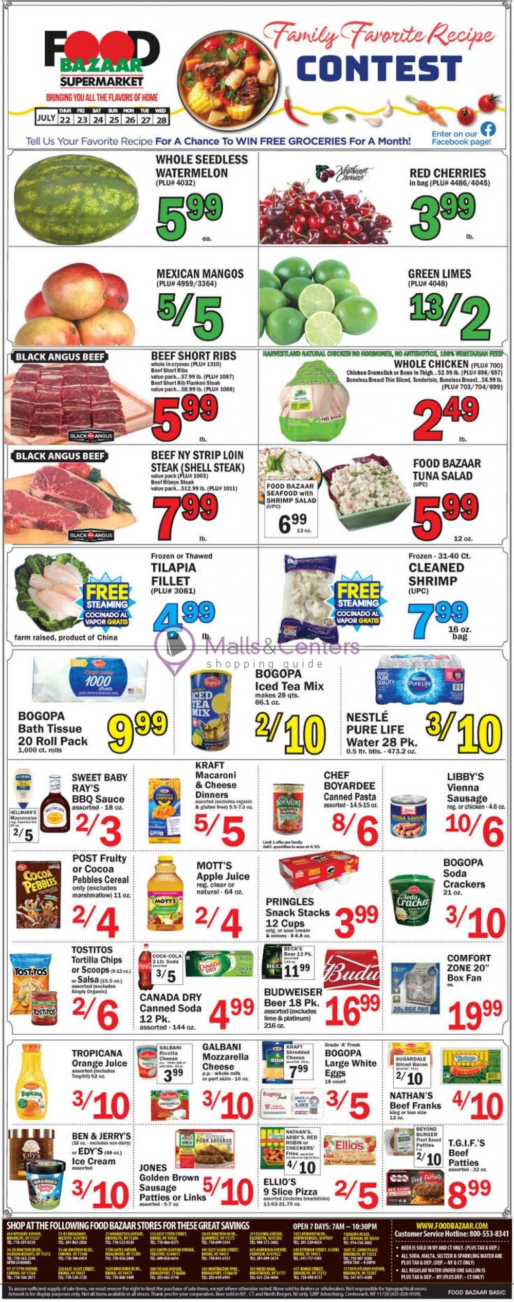 weekly ads Food Bazaar - page 1 - mallscenters.com
