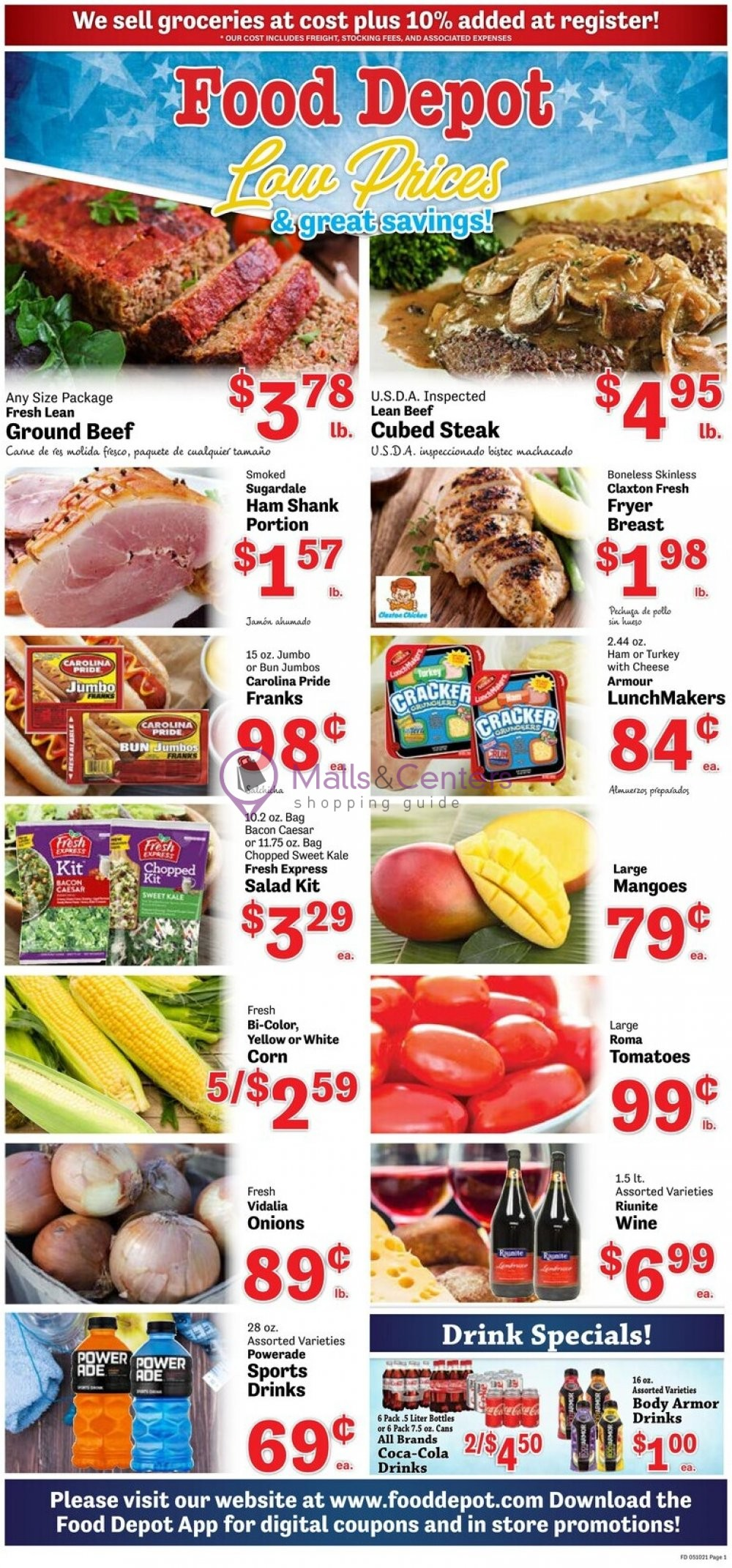 weekly ads Food Depot - page 1 - mallscenters.com