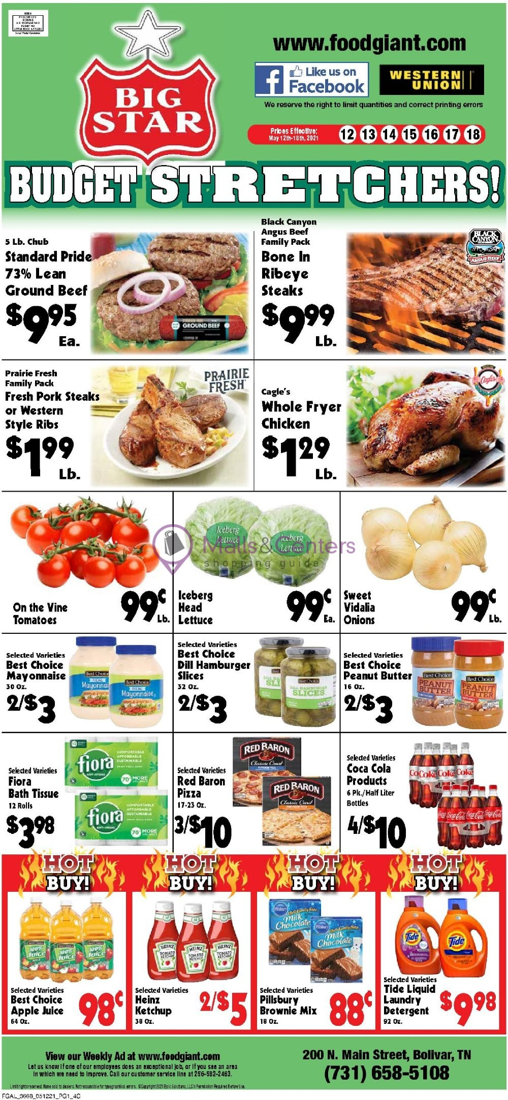 weekly ads Food Giant - page 1 - mallscenters.com