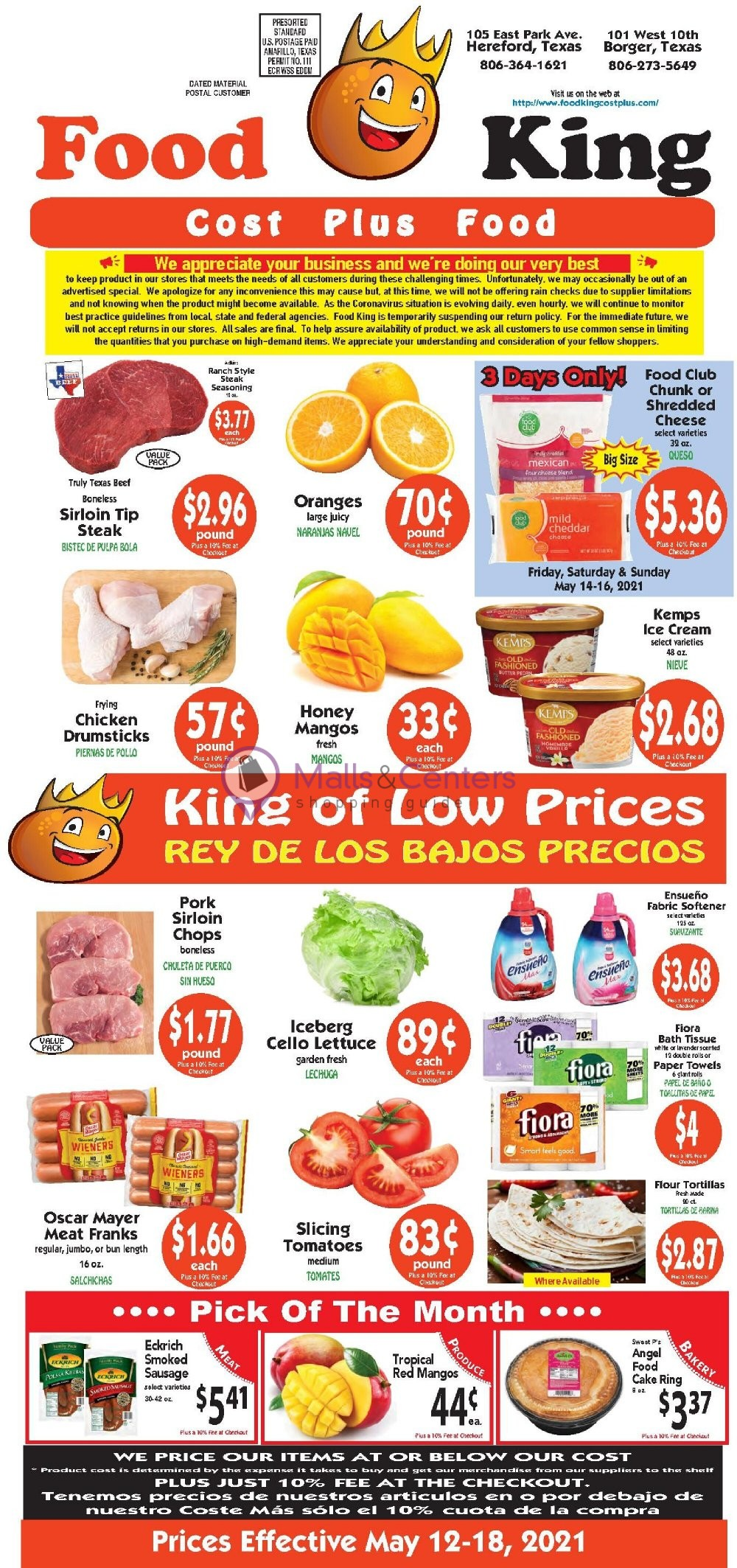 weekly ads Food King Cost Plus Food - page 1 - mallscenters.com