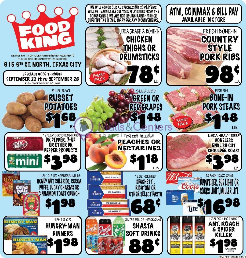 weekly ads Food King Texas City - page 1 - mallscenters.com