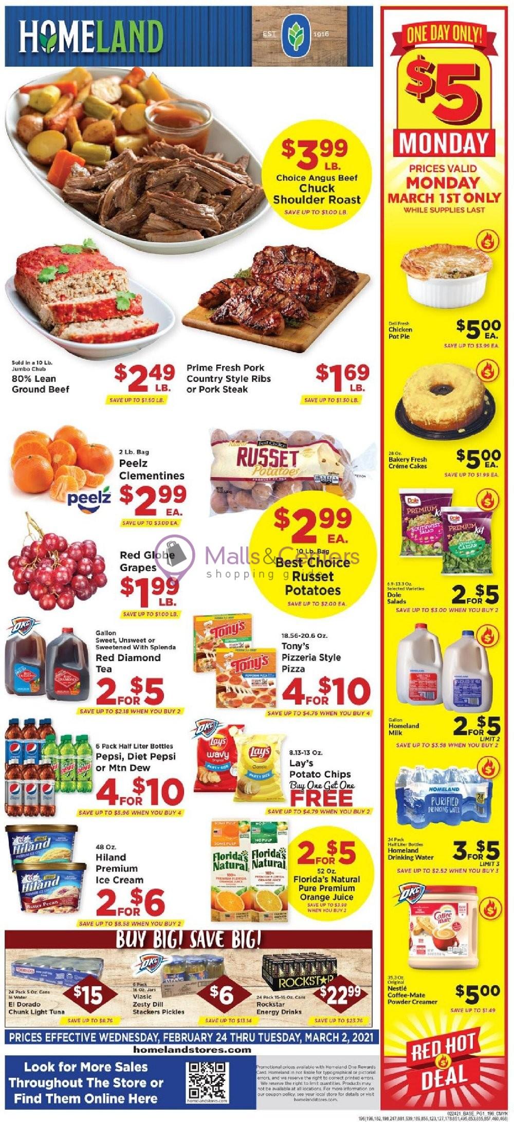 weekly ads Food Pyramid - page 1 - mallscenters.com