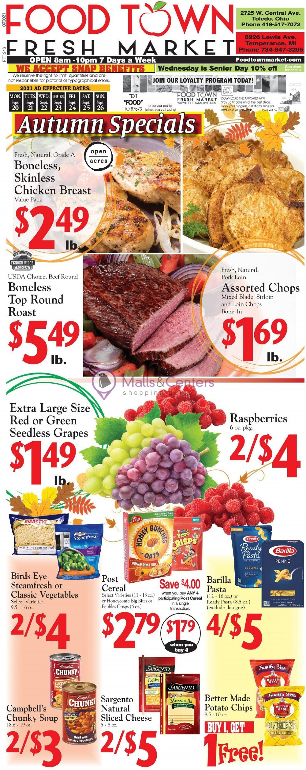 weekly ads Food Town Fresh Market - page 1 - mallscenters.com