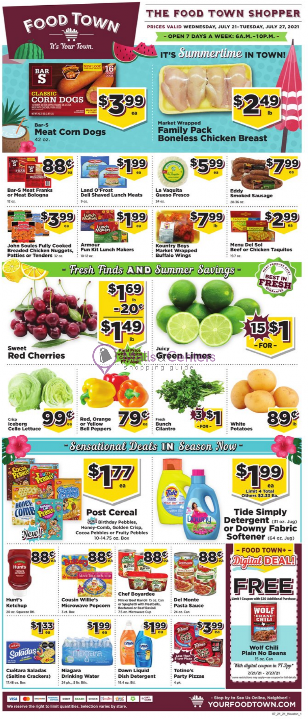 weekly ads Food Town - page 1 - mallscenters.com