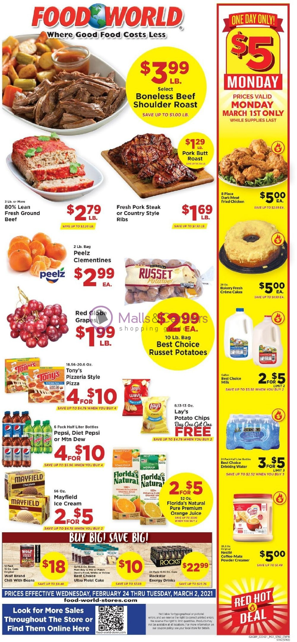 weekly ads Food World - page 1 - mallscenters.com