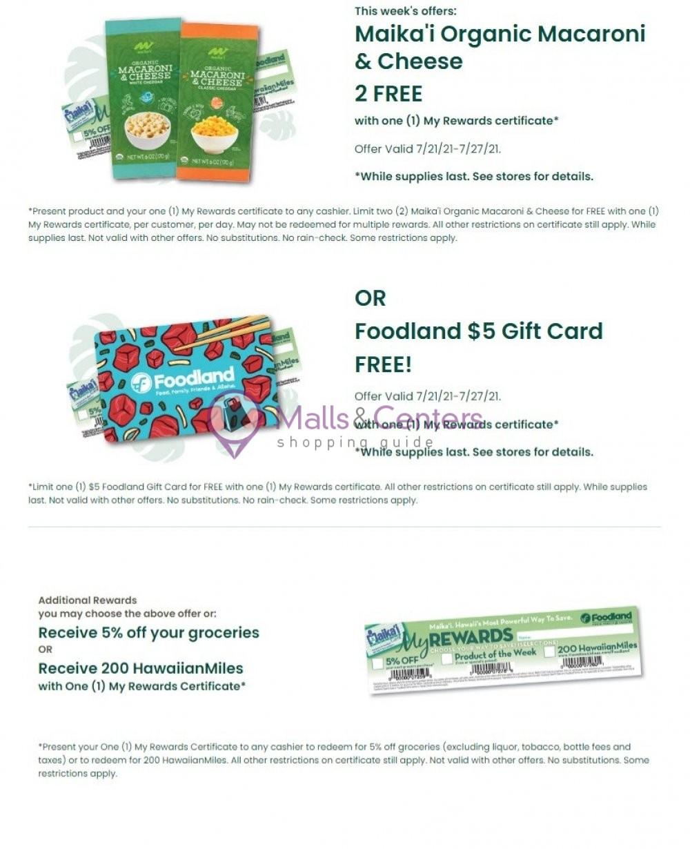 weekly ads Foodland Supermarket - page 1 - mallscenters.com