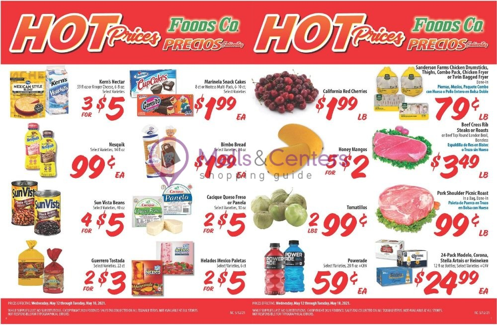 weekly ads Foods Co. - page 1 - mallscenters.com