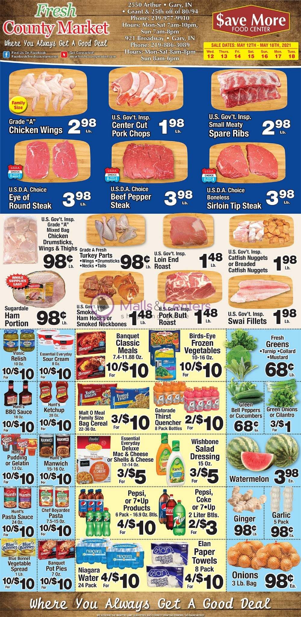 weekly ads Fresh County Market - page 1 - mallscenters.com