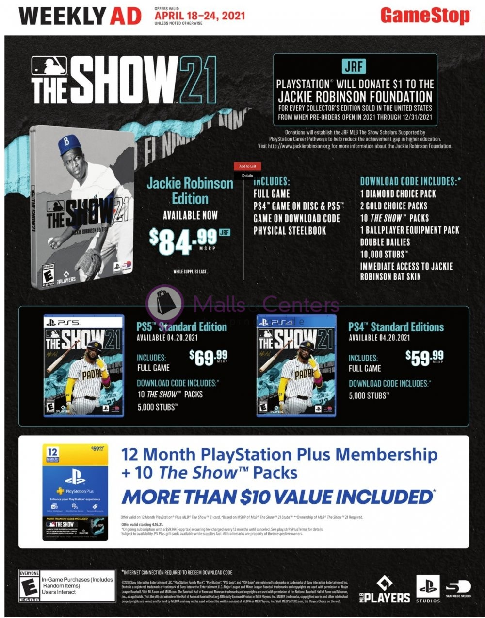 weekly ads GameStop - page 1 - mallscenters.com