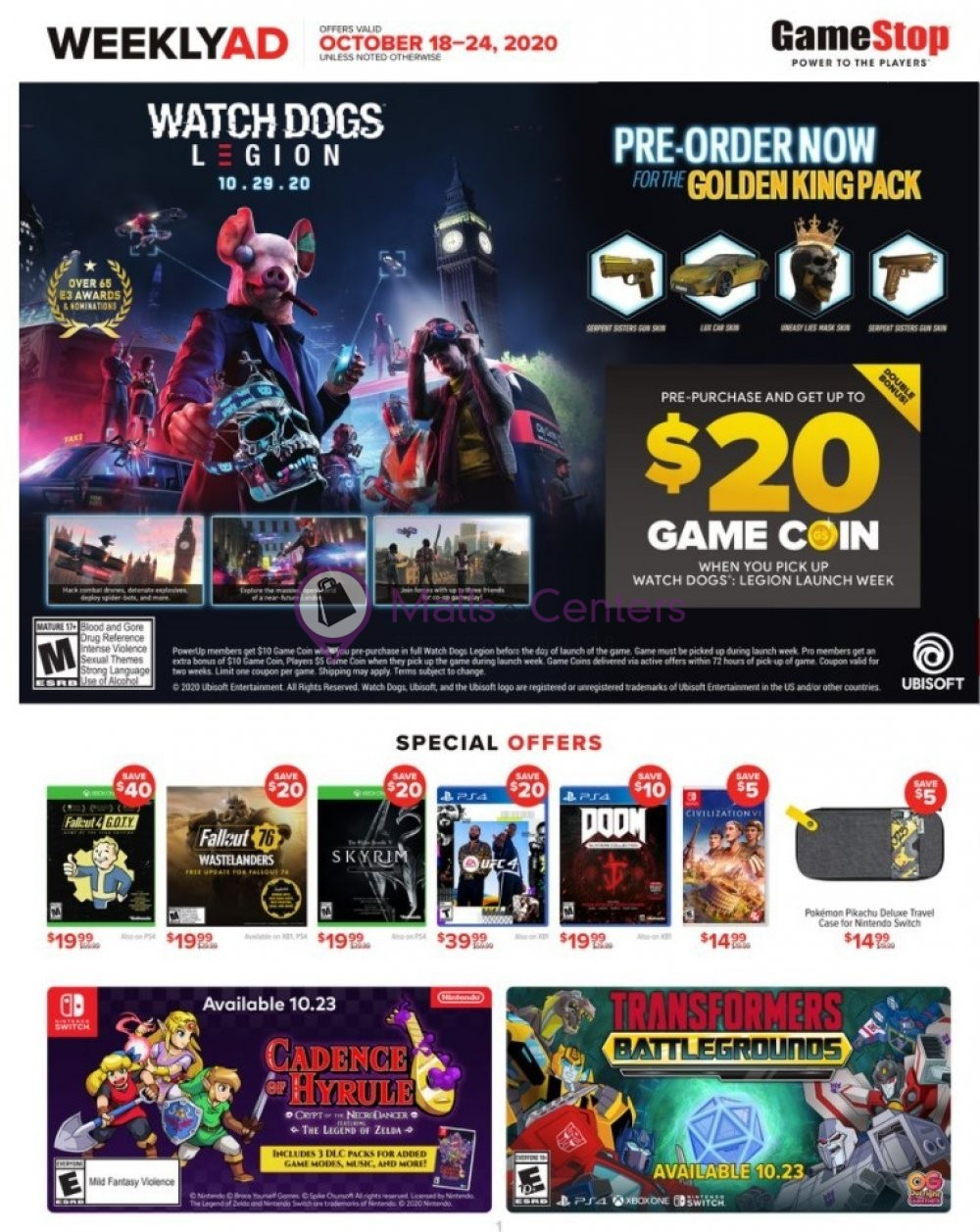 weekly ads GameStop - page 1 - mallscenters.com