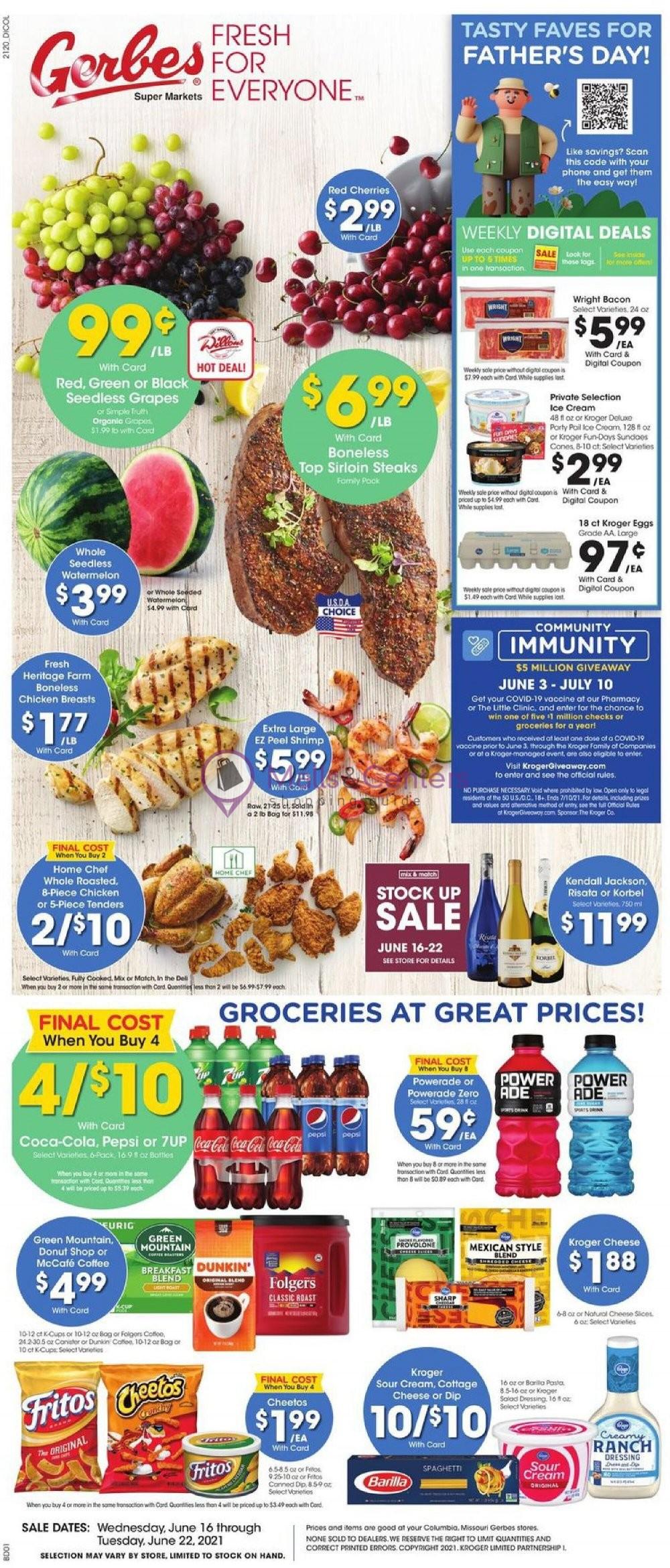 weekly ads Gerbes Super Markets - page 1 - mallscenters.com