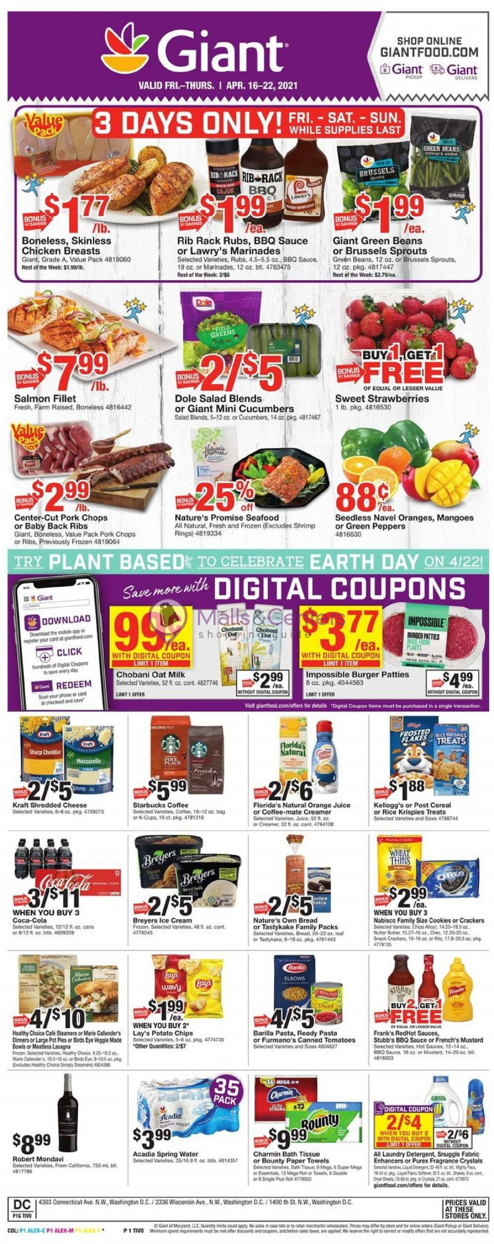 weekly ads Giant Food Stores - page 1 - mallscenters.com