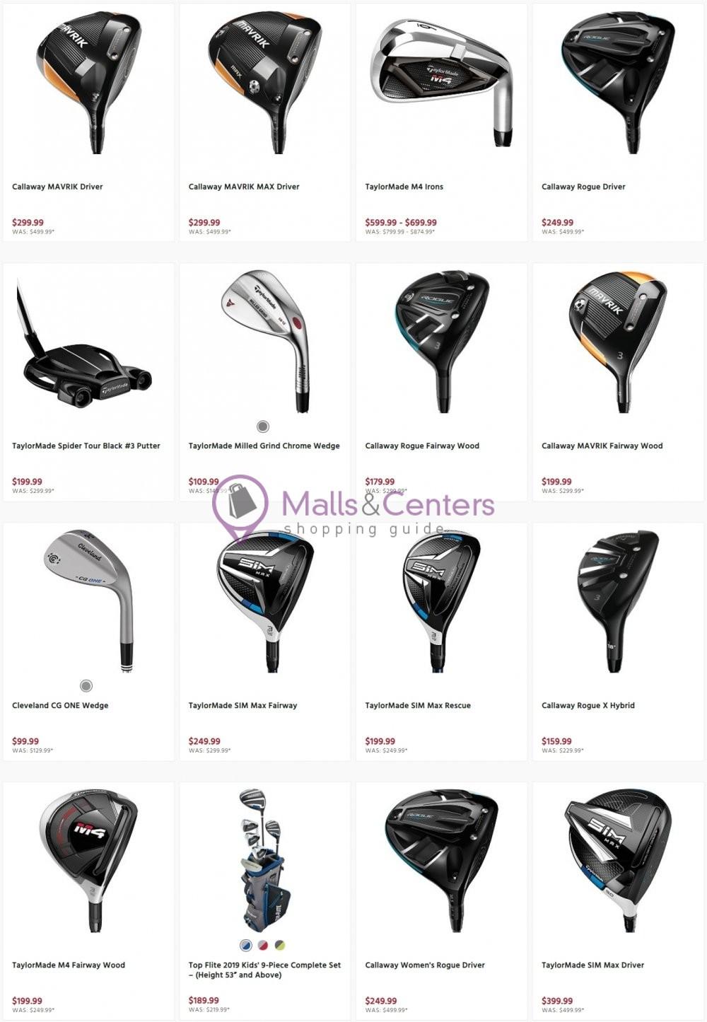weekly ads Golf Galaxy - page 1 - mallscenters.com