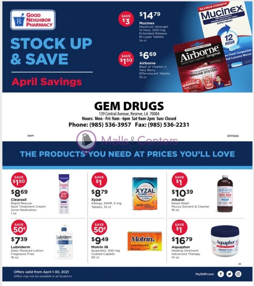 weekly ads Good Neighbor Pharmacy - page 1 - mallscenters.com
