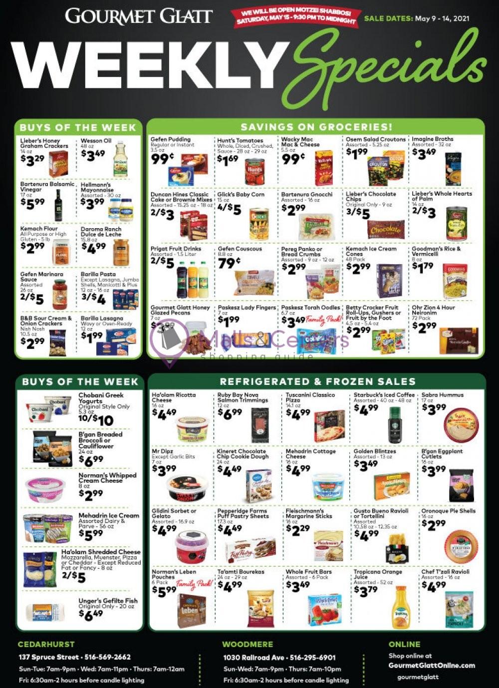 weekly ad Gourmet Glatt Market - page 1 - mallscenters.com