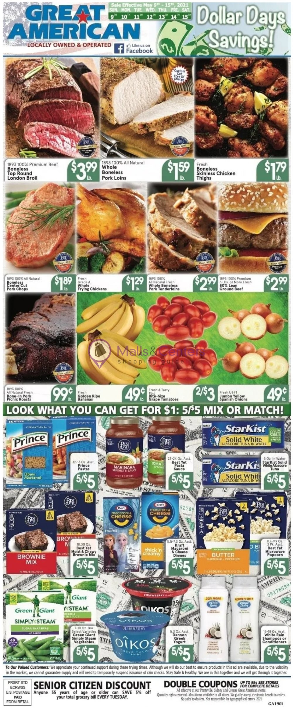weekly ads Great American Food Stores - page 1 - mallscenters.com