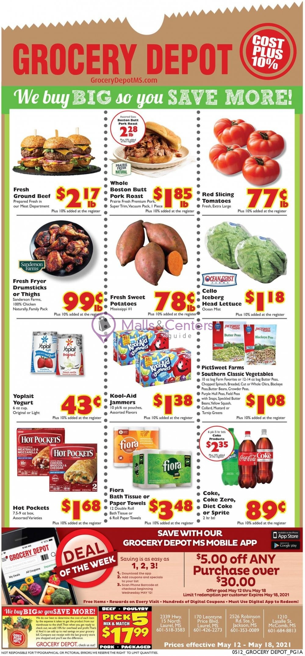 weekly ads Grocery Depot - page 1 - mallscenters.com