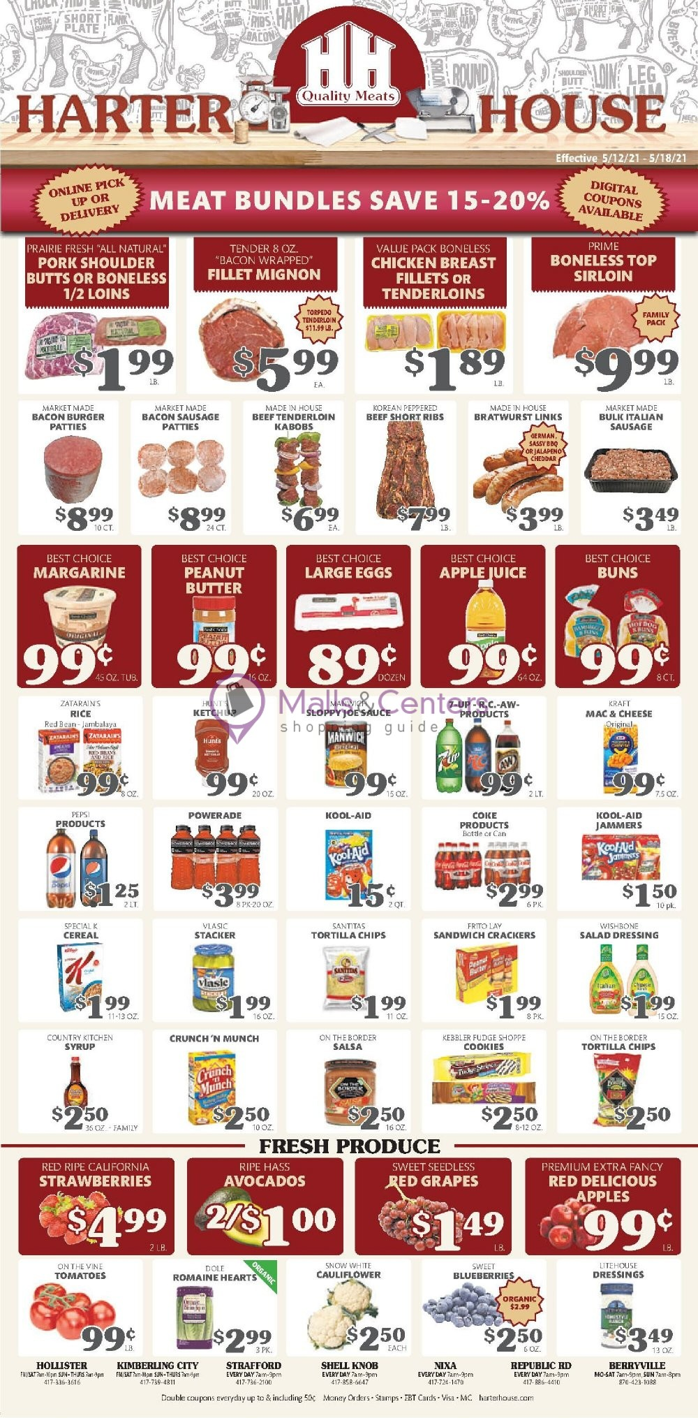 weekly ads Harter House - page 1 - mallscenters.com