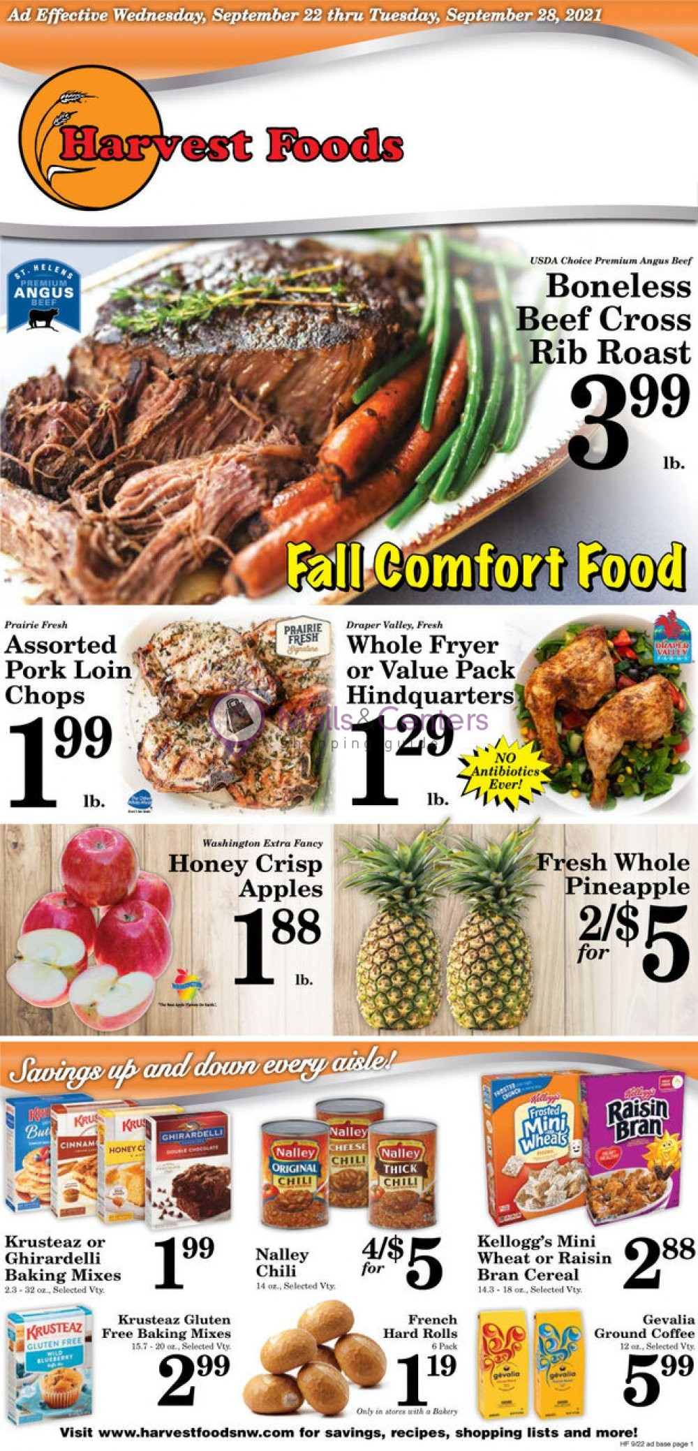 weekly ads Harvest Foods - page 1 - mallscenters.com