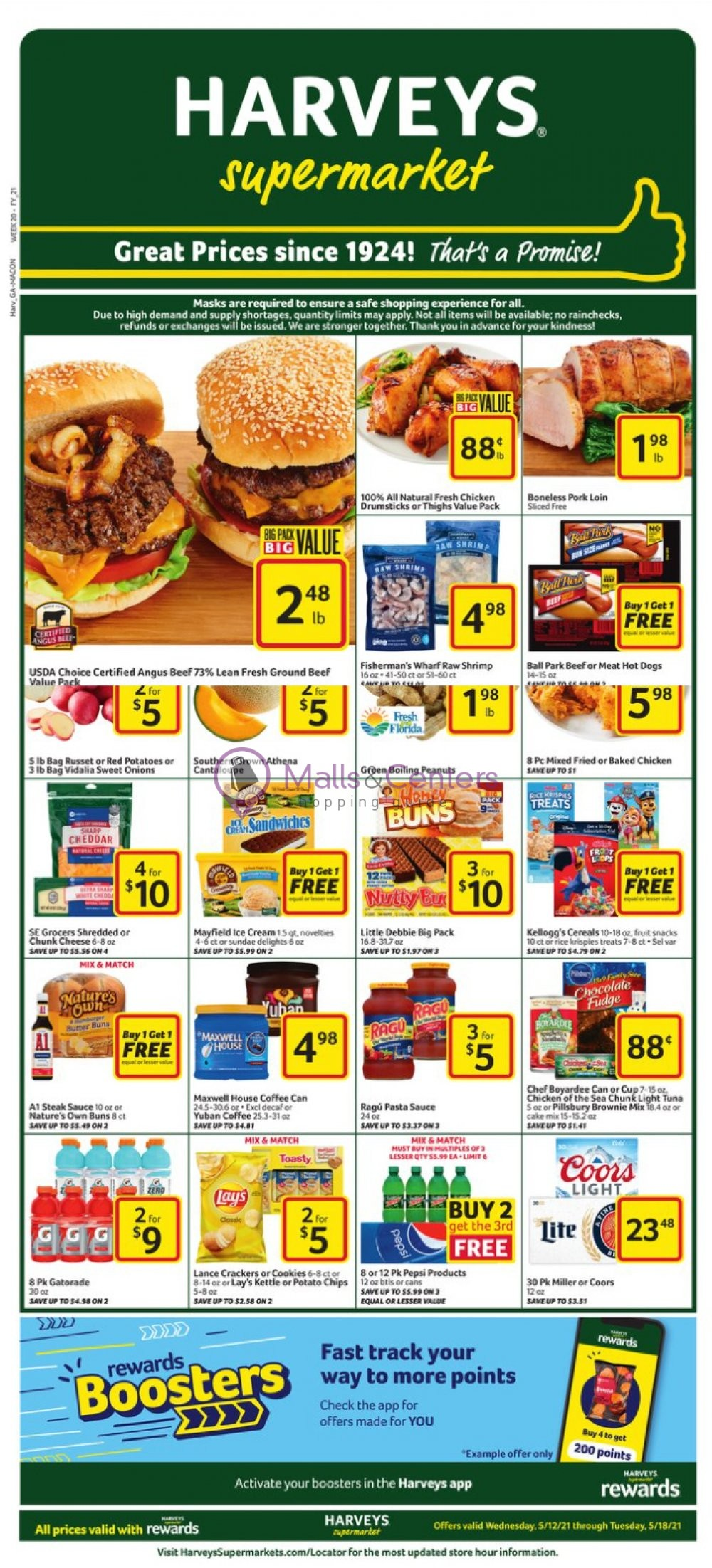 weekly ads Harveys Supermarket - page 1 - mallscenters.com