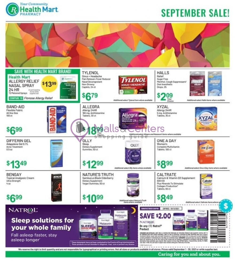 weekly ads Health Mart - page 1 - mallscenters.com