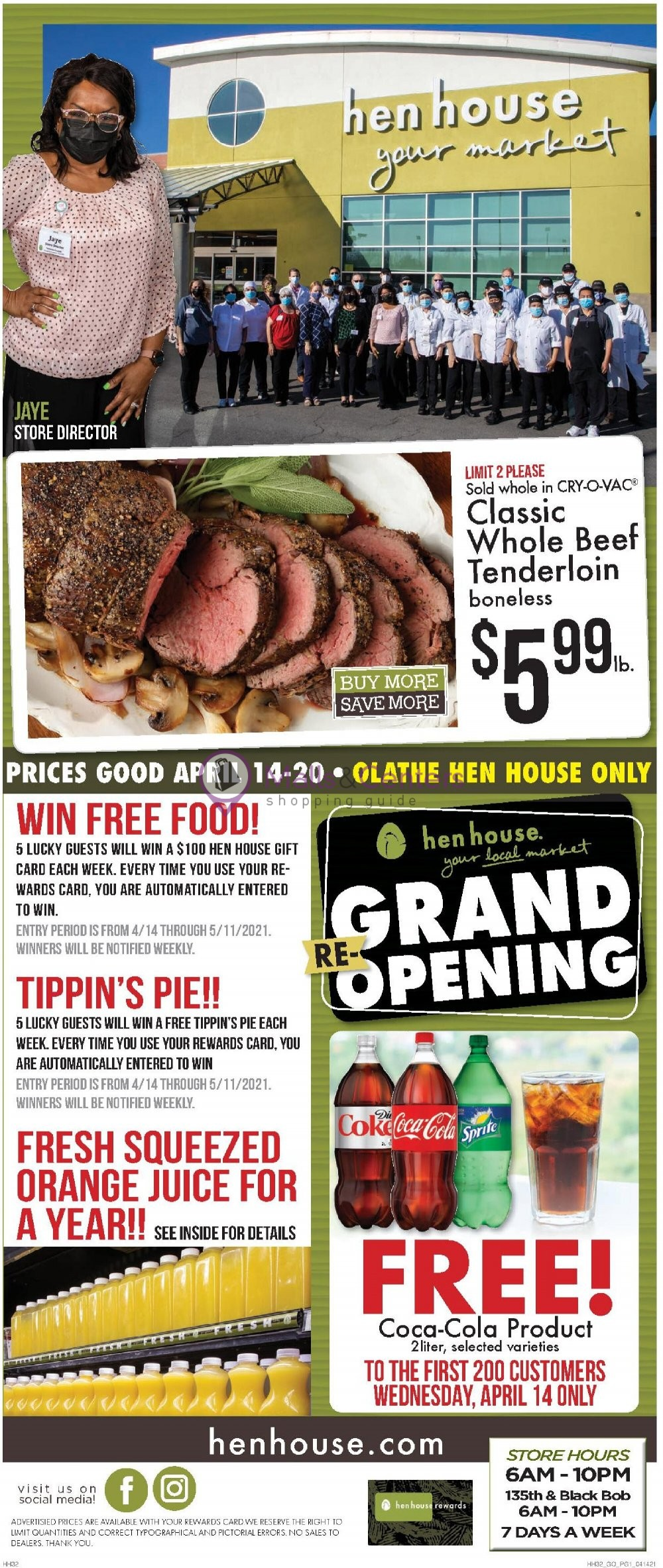 weekly ads Hen House - page 1 - mallscenters.com