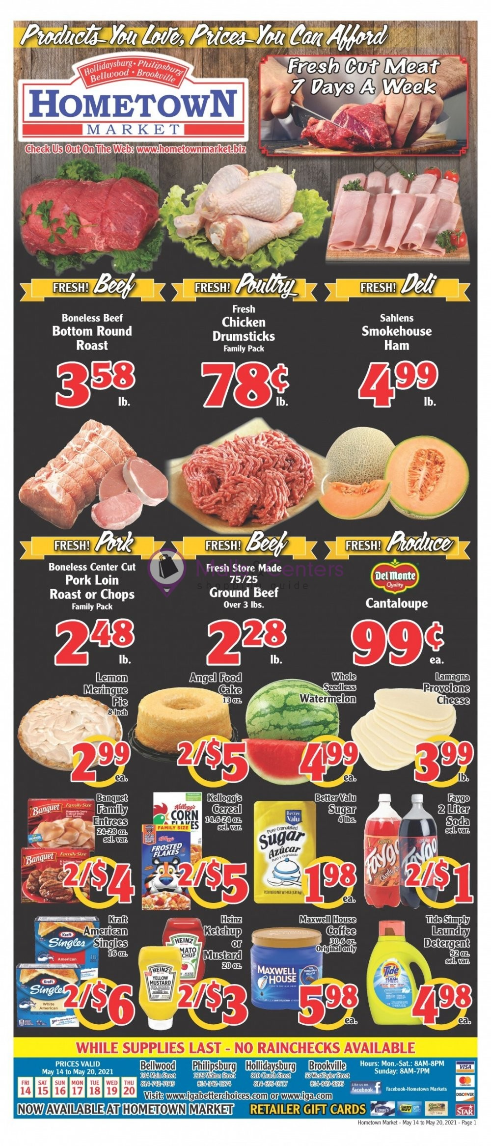 weekly ads Hometown Market - page 1 - mallscenters.com