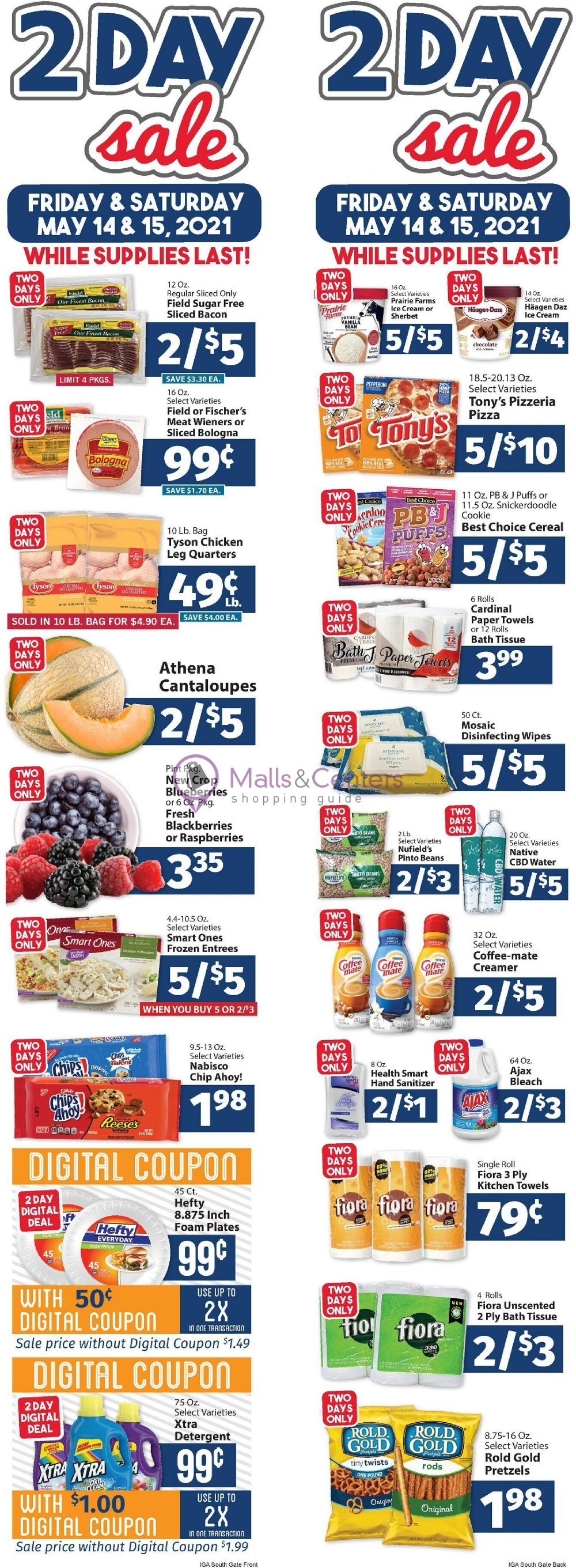 weekly ads IGA - page 1 - mallscenters.com