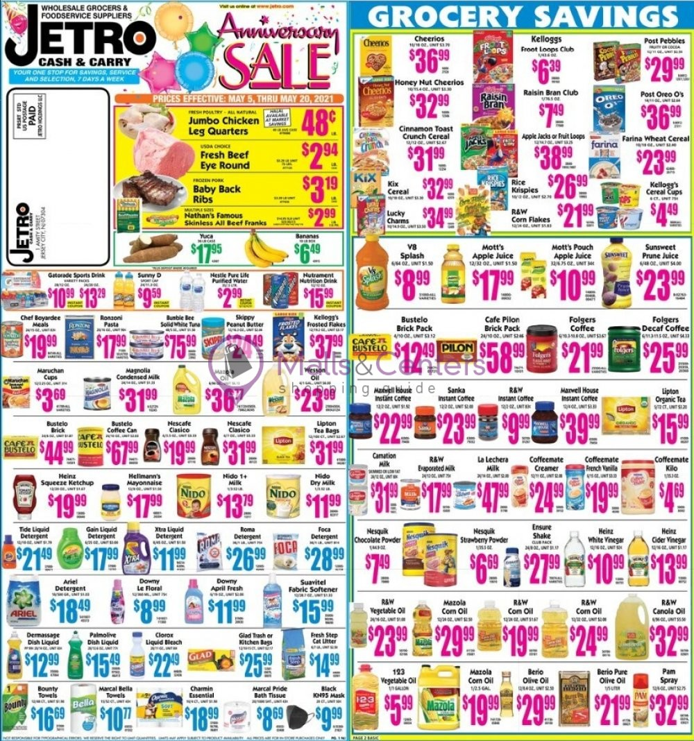 weekly ads Jetro - page 1 - mallscenters.com